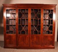 Four Door Breakfront Bookcase In Mahogany-19th Century (5 of 10)
