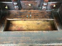 Antique Carved Oak Bureau (9 of 14)