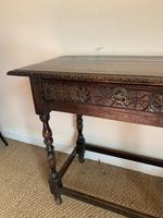 Antique Oak Side Table (2 of 6)
