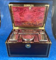 Georgian  Rosewood Brassbound Vanity Box (16 of 34)