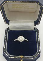 18ct White Gold Diamond Solitaire Halo Ring (2 of 5)