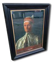 19th C Oil On Canvas Of Octavia Hill's Portrait Of Leonardo Loredan