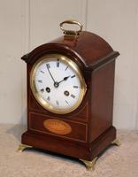 Small Mahogany & Inlay Mantel Clock (7 of 12)