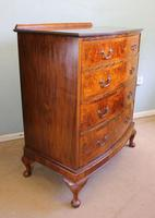 Antique Bow Front Figured Walnut Chest of Drawers (2 of 11)