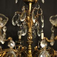 Italian Gilt Bronze 10 Light Antique Chandelier (7 of 10)