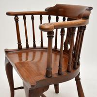 Antique Victorian Mahogany Captains  Desk Chair (9 of 11)