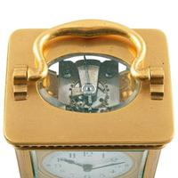 Edwardian French Brass Carriage Clock (4 of 8)
