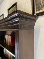 Superb Large 19th Century Mahogany Open Bookcase (4 of 8)