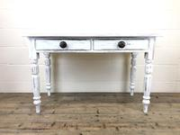 Distressed White Painted Victorian Pine Table (3 of 8)