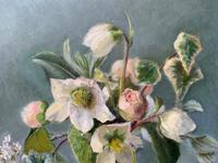 Fabulous Original 20th Century Floral Still Life Study Oil on Board Painting (8 of 11)