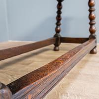 20th Century Long Oak Stool (3 of 5)