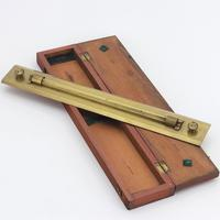 Mahogany Cased Brass Rolling Parallel Rule by Troughton & Simms c.1890 (4 of 7)