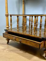 Victorian Inlaid Walnut Canterbury What Not (6 of 11)