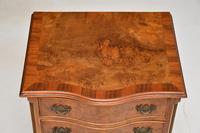 Antique Burr Walnut Serpentine Chest of Drawers (8 of 8)