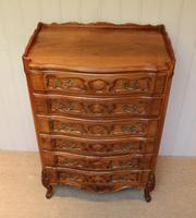 French Cherry Wood Tall Chest of Drawers (7 of 12)