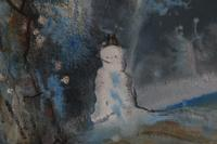 Snowman in a winter landscape by Barbara Doyle (3 of 4)