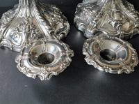 Pair Tall Antique Georgian Silver Candlesticks - 1769 (6 of 10)