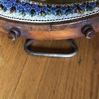 19th Century Italian Olive Wood Easel Mirror - Millefiori Micro Inlaid Detail (10 of 10)