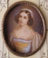 Hand Painted Miniature Portrait Helen Sedlmayer 1813-1898 (2 of 4)