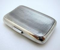 Edwardian 1902 English Antique Solid Sterling Silver Hip Pocket Small Cigarette Case (4 of 10)