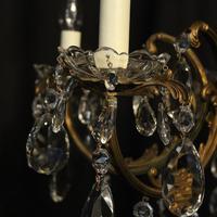 Italian Gilded Brass 5 Light Antique Chandelier (5 of 10)