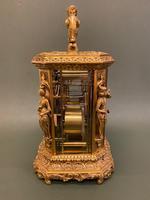 Rare French Mid 19th Century 'Caryatid' Cased Carriage Clock – Lucien Paris (4 of 6)