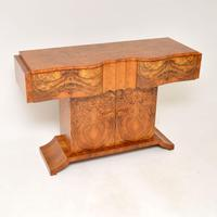 Art Deco Burr Walnut Console Table by Hille (2 of 12)