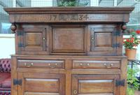 Country Oak Court Cupboard 1734 Carved Initials RTK (4 of 14)