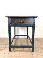 Antique Oak Side Table with Drawer (5 of 11)