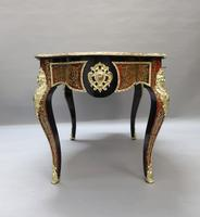 French Napoleon III Louis XV Style Boulle Writing or Centre Table (14 of 16)