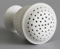 Wedgwood Salt Glazed White Stoneware Pounce Pot c.1780 (9 of 10)