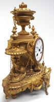Wow! Incredible French Gilt Metal Mantel Clock Striking 8-Day Mantle Clock (9 of 10)