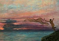 'The Last Throw' Original Signed 1972 Vintage Seascape Oil On Board Painting' (4 of 13)