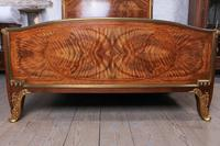 Spectacular and Beautiful Fruitwood Inlay Rococo King Size Bed (2 of 10)