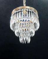 Italian Art Deco Three Tier Crystal Glass Chandelier, 1930s (2 of 6)