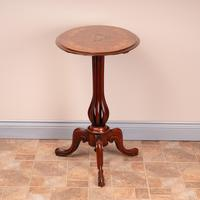 Good Quality Marquetry Walnut Occasional Tip Table (2 of 14)