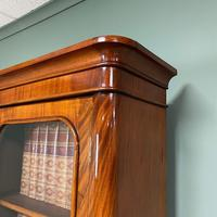 Tall Slim Victorian Mahogany Antique Bookcase on Cupboard (6 of 10)