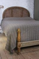 Lovely Carved Gilded Frame French King Size Bed (5 of 7)