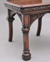 Near Pair of 19th Century Carved Oak Gothic Hall Chairs (12 of 12)
