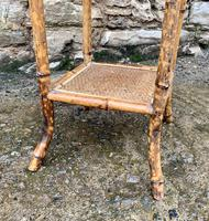 Antique Victorian Octagonal Bamboo Rattan Table (8 of 9)