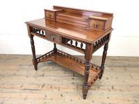 Antique Edwardian Mahogany Desk (3 of 12)