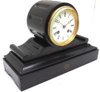 Drum Head Slate Mantel Clock – Gilt Marble 8-day Striking Mantle Clock (3 of 11)