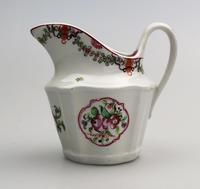 Very Pretty New Hall Porcelain Floral Jug c.1790 (6 of 8)