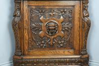 Antique Carved Oak Green Man Corner Cabinet (5 of 7)