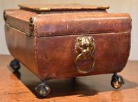 Fine Regency Leather Work Box (5 of 14)