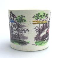Staffordshire Pottery Child's Transferware Nursery Mug Mid 19th Century (3 of 5)