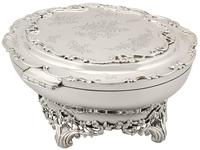 Sterling Silver Jewellery Box - Antique Edwardian 1908 (11 of 12)