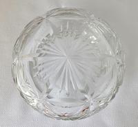 Stunning Blue Guilloche Enamel on Silver Glass Jar c.1930 (4 of 7)