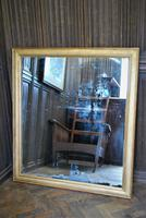 Distressed French Gilt Overmantle  Mirror