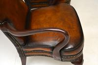 Pair of Georgian Style Leather & Mahogany Armchairs c.1930 (6 of 11)